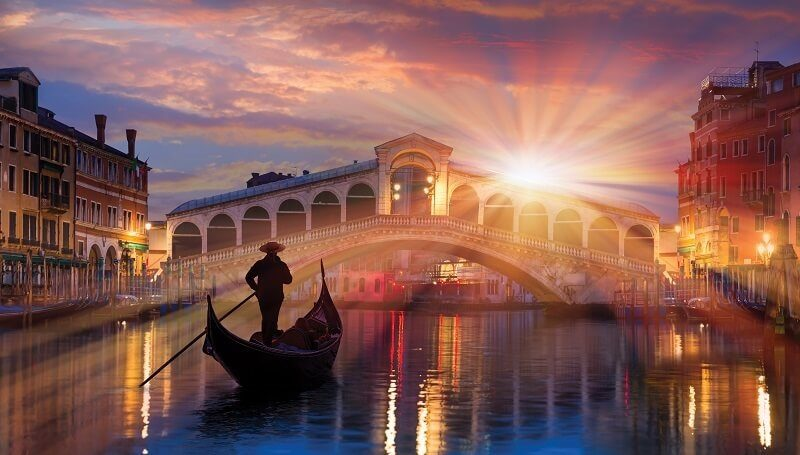 Venice Gondola and bridge