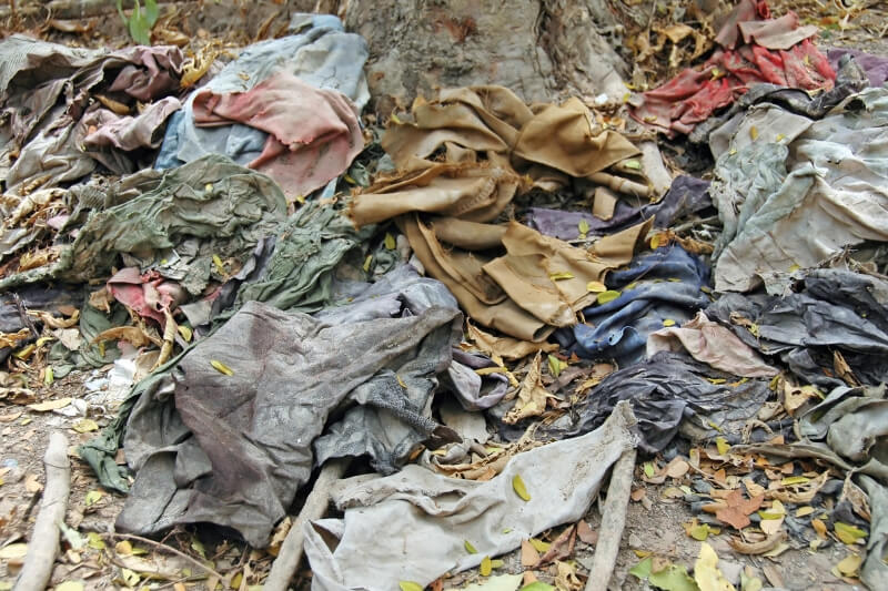 Clothes found in Killing Fields Trauma Tourism Travel Ideas