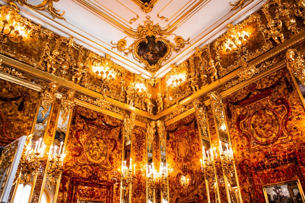 Amber Room, Catherines Place, Russia