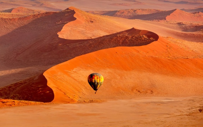 namibia hot air balloon