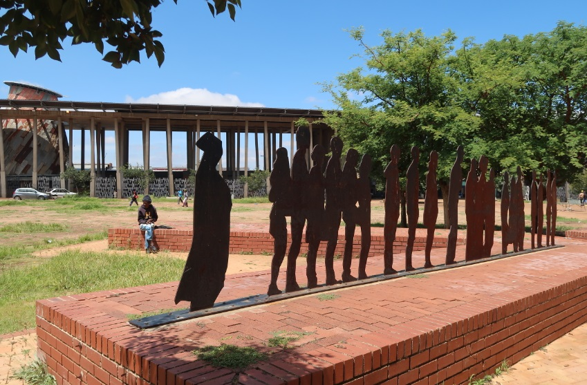 Kliptown's Freedom Square commemorates the People's Congress and signing of the Freedom Charter in June 1955 MANDY RAMSDEN