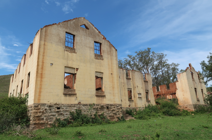 The remains of Mandela's boarding house at Clarkebury mission school which he attended from 1934-36 MANDY RAMSDEN